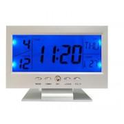 Hangvezérléses Digitális Led ébresztő Óra naptár, hőmérséklet, visszaszámláló - KK-8082