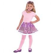 Rapine Dress-up Set Disney Princess Birthday Party Costume (3 Pack) Purple Children-Small.