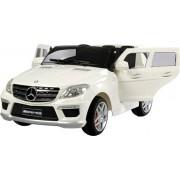 Accu voertuig Mercedes Benz ML63 - MP3 - Radio - Afstandsbediening - 12V motor - Ivoor-Wit