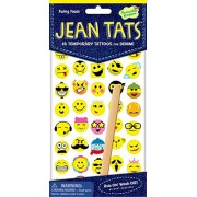 Peaceable Kingdom Jean Tats Funny Faces Temporary Tattoos For Fabric