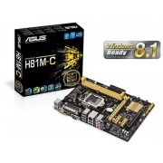 Asus H81M-C Socket 1150 VGA DVI 8 Channel HD Audio mATX Motherboard