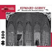 Dracula in Dr. Seward's Library 500-Piece Jigsaw Puzzle Aa711 by Edward Gorey
