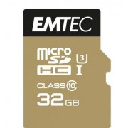 Carte microsdhc 32go emtec speedin cl10 95mb/s fullhd 4k ultrahd sous blister adaptateur offert compatible Samsung Galaxy k zoom