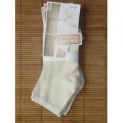 Socquettes en bambou (3 paires) - écru (Taille:35/38 )