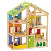 Hape Maison de poupée toute saison meublée E3401