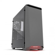 """Phanteks Eclipse P400 Steel ATX Mid Tower Case Anthracite Grey, """"Tempered Glass"""" Edition"""