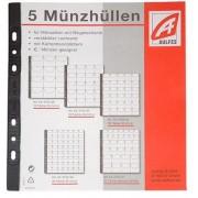 Aulfes - 2154-06 - Feuilles transparentes en plastique - 12 pièces de monnaie - Lot de 5