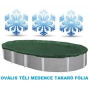 Supreme ovális téli medence takaró fólia 4,5 x 9m AS-173006