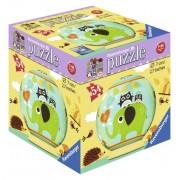 Puzzle 3D Bufnita si elefant, 54 piese, RAVENSBURGER Puzzle 3D