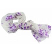 Šála letní květinky fialová 150x63cm 8067-4 8067-4