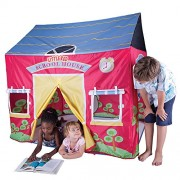 """Pacific Play Tents Kids Little Red School House Tent Playhouse - 58"""" x 48"""" x 58"""""""