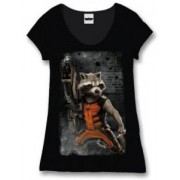 Tricou dame - Guardians of the Galaxy - Rocket Powered