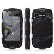 "MANN ZUG 3 4"" Waterproof Android 4.3 MSM8225Q Quad Core 1GB RAM 4GB ROM 3G WCDMA Smartphone - Black"