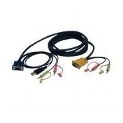 Tripp Lite Kit de Cables VGA/USB/Audio, 3 Metros, para Multiplexor KVM