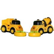 Remote Control Construction Trucks Set Of 2 Cement Truck & Dump Truck