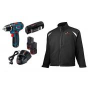 Abbigliamento termico HEAT+ Jacket 10,8 V Professional & Trapano GSR 10,8-2-LI, grandezza 2XL