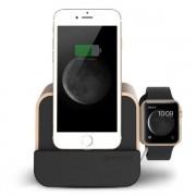 Verus i-Depot Plus Cradle - универсална док станция за iPhone, iPad, Apple Watch и мобилни устройства с microUSB (златиста)