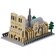 """Brixies """"Kathedrale Notre Dame 3d-motif Building Blocks (Multicolore)"""