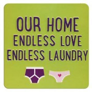 tinnen magneet - our home endless love endless laundry