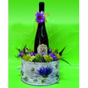 Aranjament floral cu vin