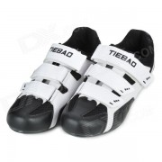 Tiebao TB02-B943 Men's Outdoor Sports Cycling Shoes - Black + White (Pair / Size-43)