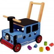 Im Toy Loopwagen Trein Blauw
