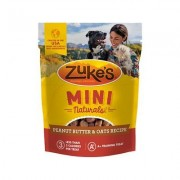 Zuke's Mini Naturals Peanut Butter & Oats Recipe Dog Treats, 1-lb bag