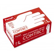 PACLAN Contact | Latex Examination Gloves / L (1 x 100 ks)
