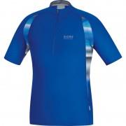 GORE RUNNING WEAR AIR PRINT Zip Shirt Men brilliant blue 2015 Running