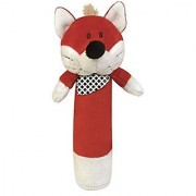 Stephan Baby Plush Velour Squeaker Toy Red Fox