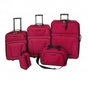 """vidaXL """"Zestaw walizek 5 części, czerwone"""""""
