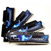 Memorie G.Skill RipJawsX 16GB (4x4GB) DDR3 PC3-10666 CL7 1333MHz Intel Z97 Ready Dual/Quad Channel Kit, F3-10666CL7Q-16GBXH