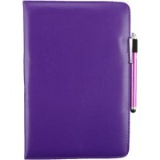 Emartbuy Toshiba Encore 2 10.1 Inch Tablet PC Universal ( 9 - 10 Inch ) Purple 360 Degree Rotating Stand Folio Wallet Case Cover + Stylus
