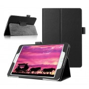 Samsung Galaxy Tab S2 8.0 T715 / T710 - Leather Book Cover Flip Hoes voor bescherming voor- en achterkant - Kleur Zwart