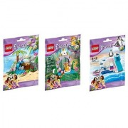 Lego Friends Series 4 Bundle Set of 3 Tiger Penguin and Turtle (41041 41042 41043)