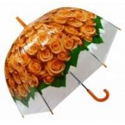 Deštník dámský vystřelovací holový růže oranž. 9160-10 9160-10