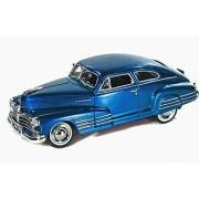 1948 Chevy Aerosedan Fleetline, Blue - Motormax Premium American 73266 - 1/24 Scale Diecast Model Car