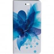 Husa Flip Cover Tellur Folio pentru Huawei P9 Blue flower