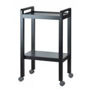 Weelko Kosmetický stolek Weelko BASIC - 2 police, tmavě hnědý (1050A) + DÁREK ZDARMA