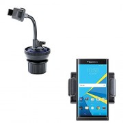 Ultra Compact Blackberry Priv Car / Truck Mounting System Features Both Cupholder and Flexible Windshield Suction Mounts