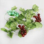 2X Artificial Grape Vine Garland Silk Fruit For Home Garden Decoration