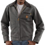 Carhartt Detroit Sandstone Jacket - Blanket Lined Factory Seconds GRAVEL (07)
