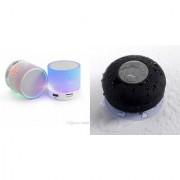 ZEMINI Music Mini Bluetooth Speaker(S10 Speaker) And Bluetooth Speaker (Shower Speaker) for LG OPTIMUS L4 II
