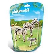 Playmobil - 6641 - Le Zoo - Famille De Zèbres