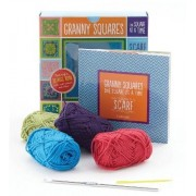 Granny Squares, One Square at a Time / Scarf Kit by Margaret Hubert