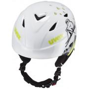 UVEX airwing 2 Kask Dzieci zielony/biały Kaski narciarskie