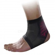 MLD LF1127 Ankle Foot Sports Support Protection Brace Guard Protector - Black + Red (L)