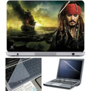 Finearts Laptop Skin 15.6 Inch With Key Guard & Screen Protector -Captain Jack Sparrow