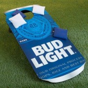 Trademark Games Bud Light Can 10 Piece CornHole Bean Bag Toss Game Set p
