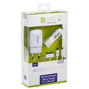 USB TRAVEL CHARGER KIT 3 IN 1 M-LIFE ML0606
